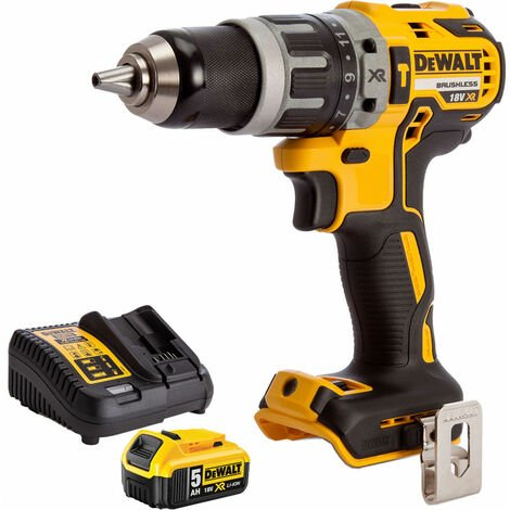 """main image of """"Dewalt DCD796N 18v Brushless 2 Speed Combi Drill With 1 x 5.0Ah Battery & Charger:18V"""""""
