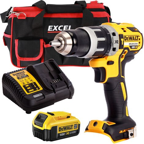 Dewalt DCD796N 18V Brushless Combi Drill with 1 x 4.0Ah Battery Charger & Bag