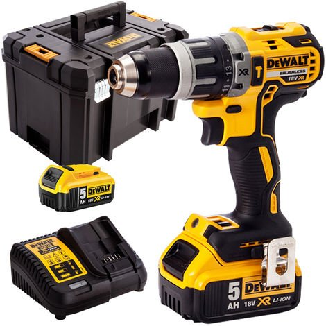 DeWalt DCD796N 18V Brushless Combi Drill with 2 x 5.0Ah Batteries & Charger in Case