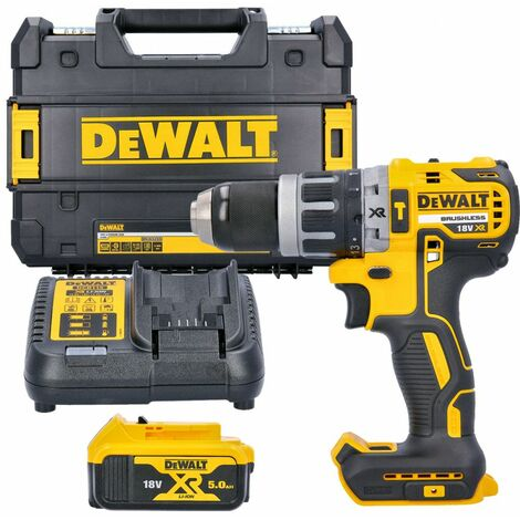 Dewalt DCD796N 18V XR Brushless Combi Drill With 1 x 5.0Ah Battery, Charger & Case