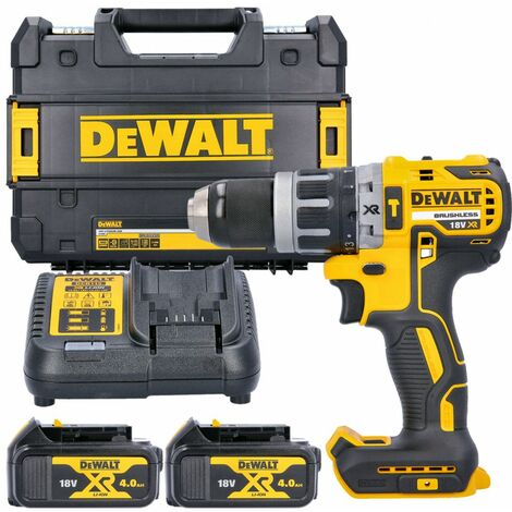 Dewalt DCD796N 18v XR Brushless Combi Drill With 2 x 4Ah Batteries, Charger & Case
