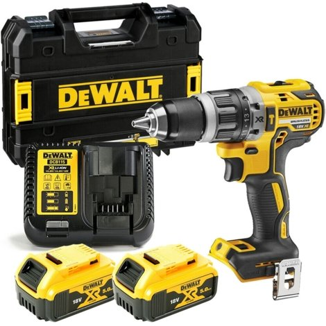 Dewalt DCD796N 18v XR Brushless Combi Drill With 2 x 5.0Ah Batteries, Charger & Case