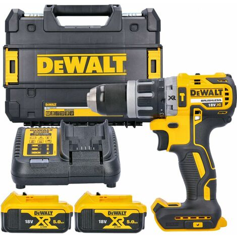 Dewalt DCD796N 18v XR Brushless Combi Drill With 2 x 5Ah Batteries, Charger & Case