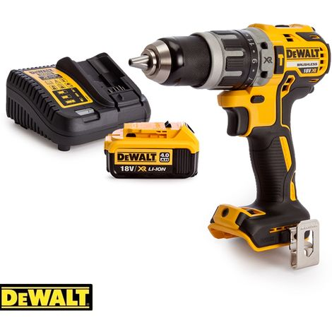 Dewalt DCD796N 18v XR Brushless Compact Combi Drill With 1 x 4Ah Battery & Charger