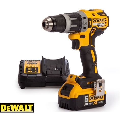 Dewalt DCD796N 18v XR Brushless Compact Combi Drill With 1 x 5Ah Battery & Charger