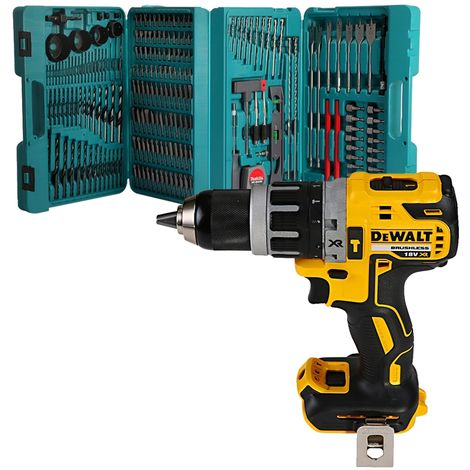 Dewalt DCD796N 18v XR Brushless Compact Combi Drill With P-44046 216 Piece Accessory Set