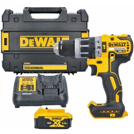 Dewalt DCD796P1 18V Brushless Combi Drill With 1 x 5.0Ah Battery, Charger & Case