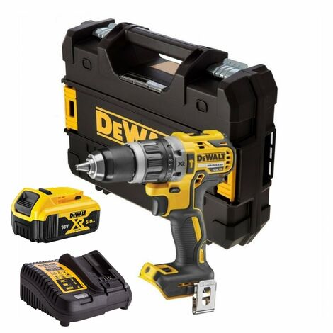 DeWalt DCD796P1 Combi Drill 18V XR Brushless Compact with 1 x 5Ah Battery
