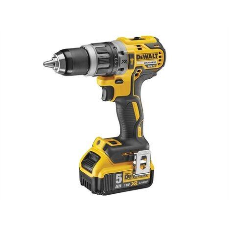 DEWALT DCD796P1-GB XR Brushless Hammer Drill 18 Volt 1 x 5.0Ah Li-Ion