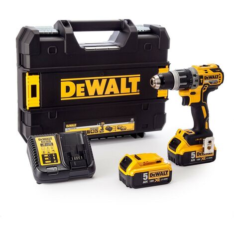 Dewalt DCD796P2 18v XR Brushless Compact Combi Hammer Drill - 2 x 5.0ah Battery