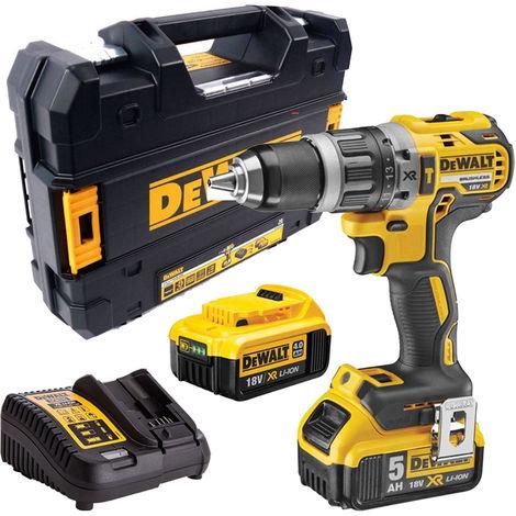 Dewalt DCD796PM XR 18V Brushless Hammer Drill With 4.0Ah & 5.0Ah Batteries & Charger:18V