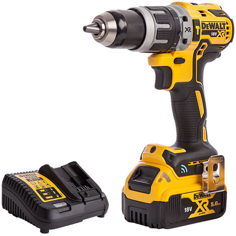 DeWalt DCD797N 18V Brushless Combi Hammer Drill with 1 x 5.0Ah Battery & Charger