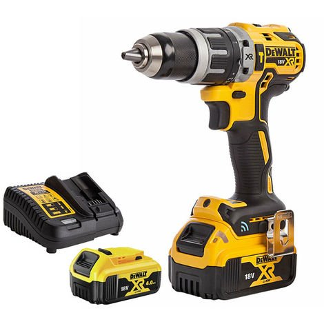 DeWalt DCD797N 18V Brushless Combi Hammer Drill with 2 x 4.0Ah Batteries & Charger