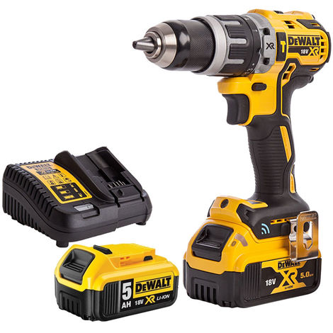 DeWalt DCD797N 18V Brushless Combi Hammer Drill with 2 x 5.0Ah Batteries & Charger