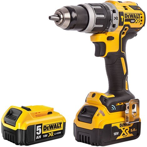 DeWalt DCD797N 18V Brushless Combi Hammer Drill with 2 x 5.0Ah Battery