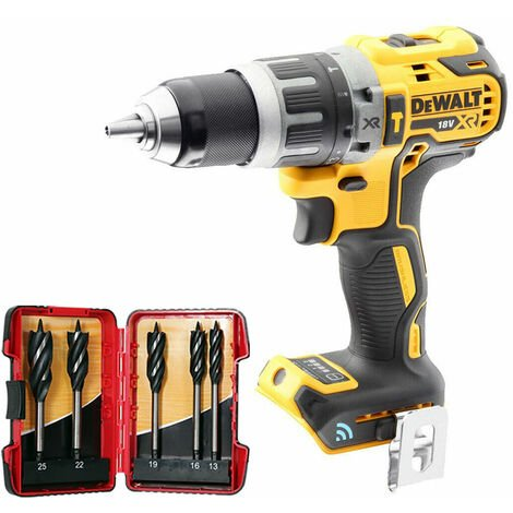 DeWalt DCD797N 18V Brushless Combi Hammer Drill with 5 Piece Auger Drill Bit Set