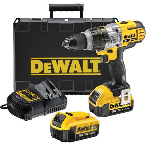DeWalt DCD985M2-GB Premium 18V XR Li-ion 3-Speed Combi Drill, 2X 4.0AH Battery P