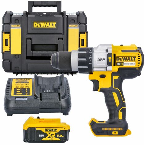 DeWalt DCD996 18v XR Brushless Combi Drill With 1 x 5.0Ah Battery, Charger & Case