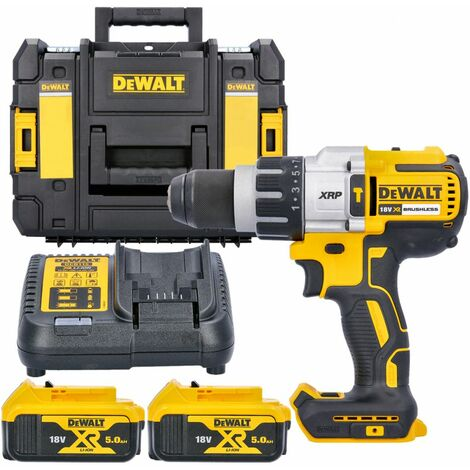 DeWalt DCD996 18v XR Brushless Combi Drill With 2 x 5.0Ah Batteries, Charger & Case