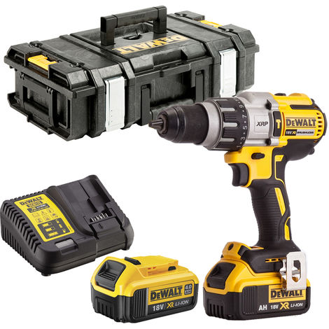 Dewalt DCD996N 18V Brushless Combi Drill 2 x 4.0Ah Batteries Charger & Tool Box