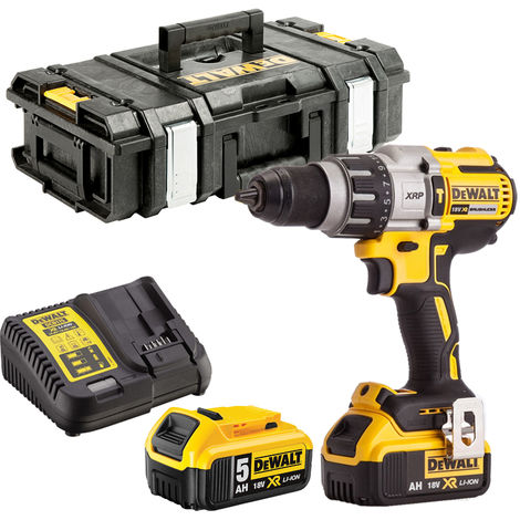 Dewalt DCD996N 18V Brushless Combi Drill 2 x 5.0Ah Batteries Charger & Tool Box