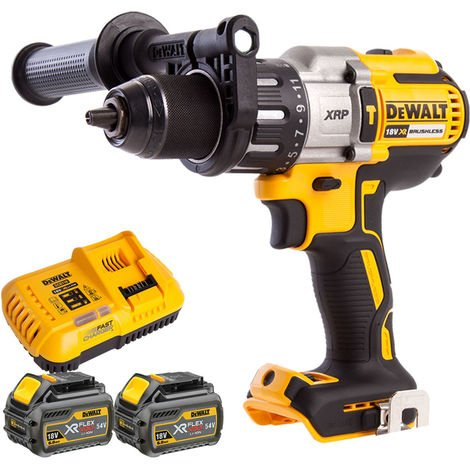 Dewalt DCD996N 18V Brushless Combi Drill + 2 x 6Ah Batteries Charger