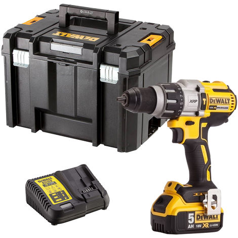 Dewalt DCD996N 18V Brushless Combi Hammer Drill with 1 x 5.0Ah Battery & Charger in Case