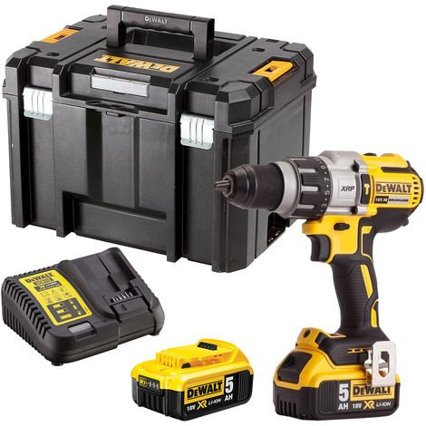 Dewalt DCD996N 18V Brushless Combi Hammer Drill with 2 x 5.0Ah Batteries & Charger in Case