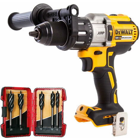 Dewalt DCD996N 18V Brushless Combi Hammer Drill with 5 Piece Auger Drill Bit Set