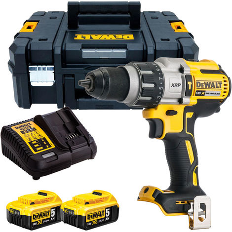 Dewalt DCD996N 18V Brushless Combi Hammer with 2 x 5.0Ah Batteries & Charger in TSTAK
