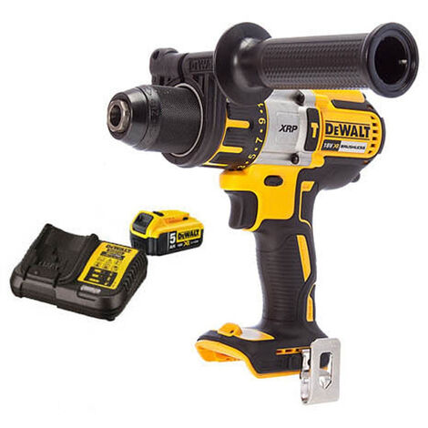 DeWalt DCD996N 18V XRP Brushless Hammer Combi Drill With 1 x 5.0Ah Battery & Charger