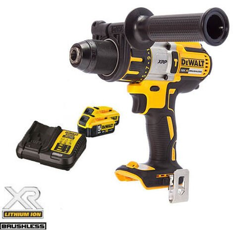 DeWalt DCD996N 18V XRP Brushless Hammer Combi Drill With 2 x 5.0Ah Batteries & Charger
