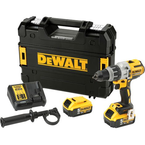 DeWalt DCD996P2 18V Brushless Combi Hammer Drill with 2 x 5.0Ah Battery & Charger in Case