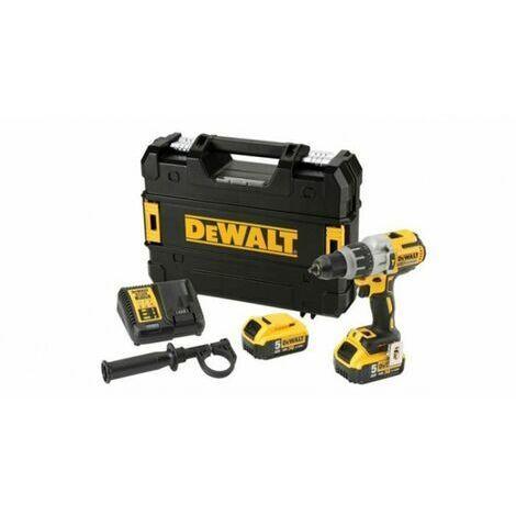 DeWalt DCD996P2 18V Li-Ion batería Taladro percutor set (2x 5.0Ah baterías) en TSTAK - sin escobillas
