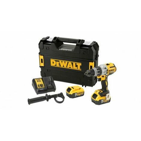 Dewalt DCD996P2 - Perceuse / visseuse à percussion à batteries 18V Li-Ion set (2x batterie 5,0Ah) dans coffret TSTAK - moteur sans charbon