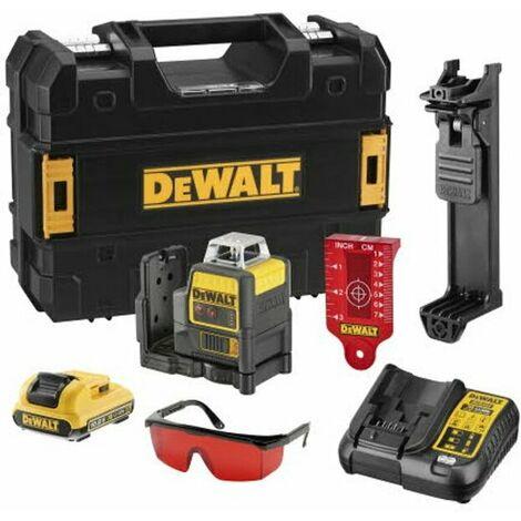 Dewalt DCE0811D1R Niveau laser ligne 360° à batteries 10,8V Li-Ion (1x batterie 2,0Ah) dans coffret - rouge - 15m