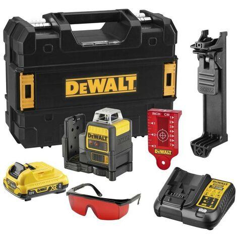 DEWALT DCE0811D1R-QW - Laser autonivelante 2x 360. Incluye bateria DW 10.8V Litio - ROJO