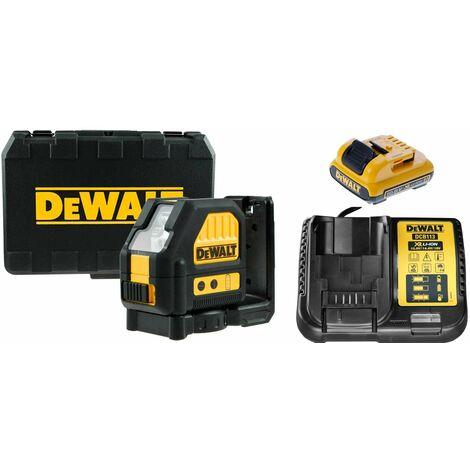 DeWalt DCE088D1R 10.8V Li-Ion batería Láser autonivelante de líneas en cruz (set con 1x 2.0Ah batería) en maletín - 2 líneas - 15m - roja