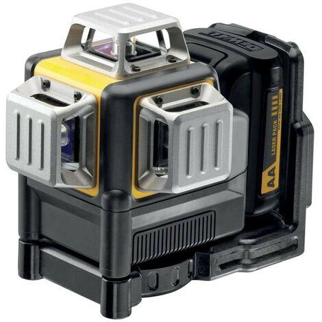 DEWALT DCE089LR-XJ - Láser autonivelante de 3 lineas de 360º - Incluye carcasa con 4 pilas - ROJO