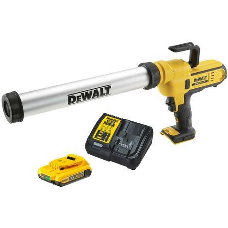 Dewalt DCE580 18v Lithium-Ion Caulking Gun 600ml - Includes 1 x 2.0ah Battery