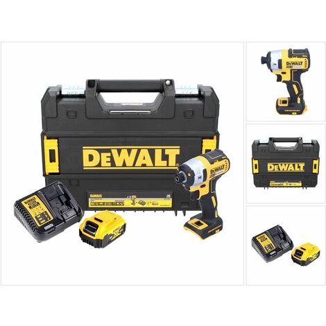 """DeWalt DCF 887 Visseuse à Chocs sans fil 18 V brushless avec Mandrin de 1/4"""" + boîtier TStak + 1x Batterie 5 Ah + Chargeur DCB 115"""