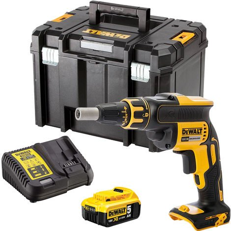 DeWalt DCF620N 18V Brushless Drywall Screwdriver with 1 x 5.0Ah Battery & Charger in Case