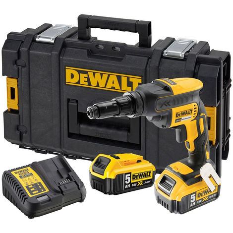 Dewalt DCF622P2 18V XR Brushless Self-Drilling Screwdriver With 2 x 5.0Ah Batteries Charger:18V