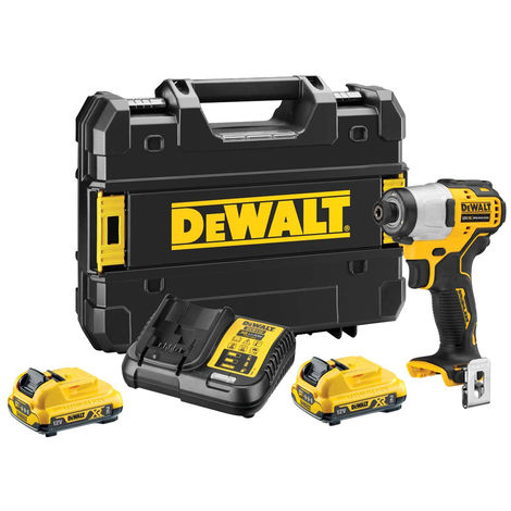 Dewalt DCF801D2 12V XR Brushless Compact Impact Driver with 2 x 2.0Ah Batteries Charger & Case:12V