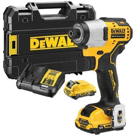 DeWalt DCF801D2 12V XR Brushless Sub Compact Impact Driver - 2 x 2Ah Batteries