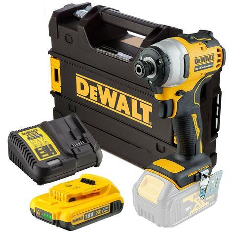 Dewalt DCF809D1 18v XR Brushless Impact Driver - 1x2.0ah Battery Charger Tstak