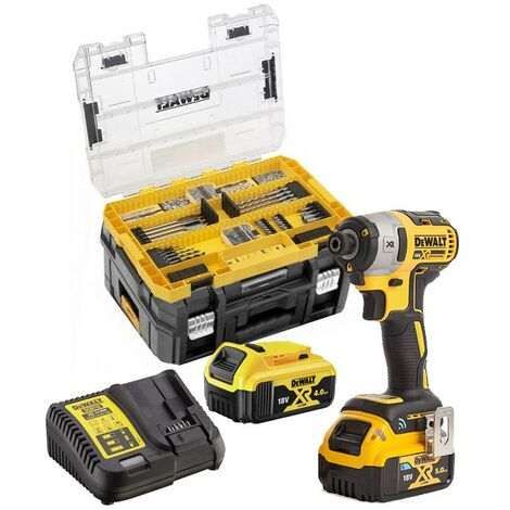 Dewalt DCF809M2 18v XR Brushless Impact Driver - 2 x 4.0ah Batteries + 85pc Set