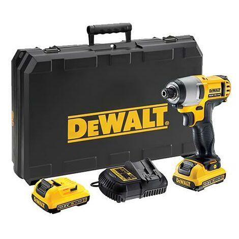 """Dewalt DCF815D2-QW Atornillador Impacto XR 10, 9 W, 10.8 V, Negro y amarillo, 1/4"""""""