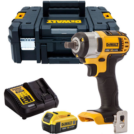 """Dewalt DCF880N 18V 1/2"""" Impact Wrench with 1 x 4.0Ah Battery & Charger in TSTAK"""