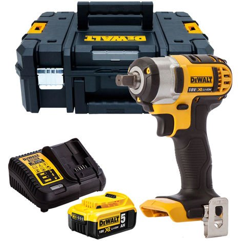 """Dewalt DCF880N 18V 1/2"""" Impact Wrench with 1 x 5.0Ah Battery & Charger in TSTAK"""